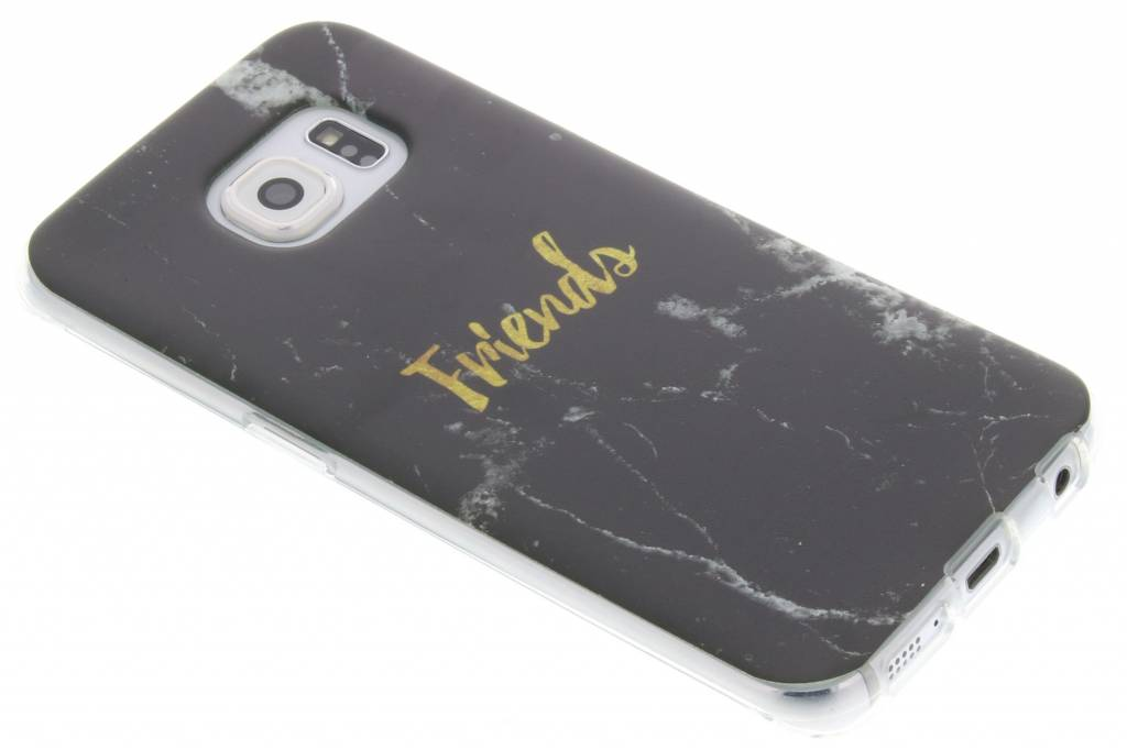 BFF Black Marble Love TPU hoesje voor de Samsung Galaxy S6 Edge