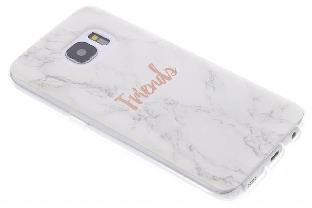 BFF White Marble Love TPU hoesje voor de Samsung Galaxy S7