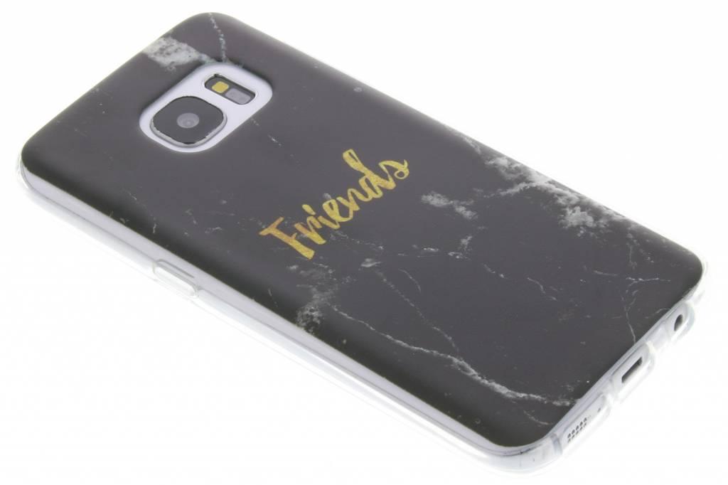BFF Black Marble Love TPU hoesje voor de Samsung Galaxy S7