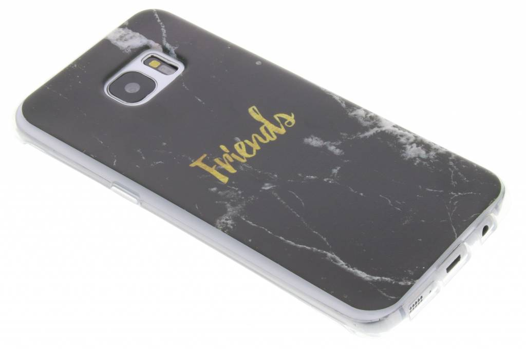 BFF Black Marble Love TPU hoesje voor de Samsung Galaxy S7 Edge