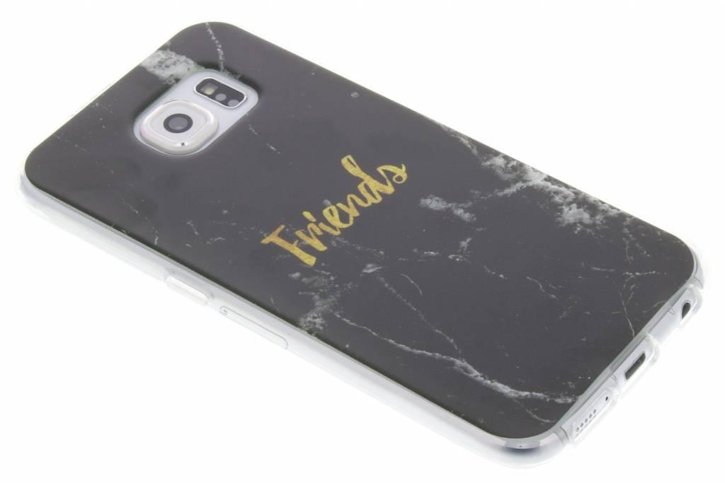 BFF Black Marble Love TPU hoesje voor de Samsung Galaxy S6