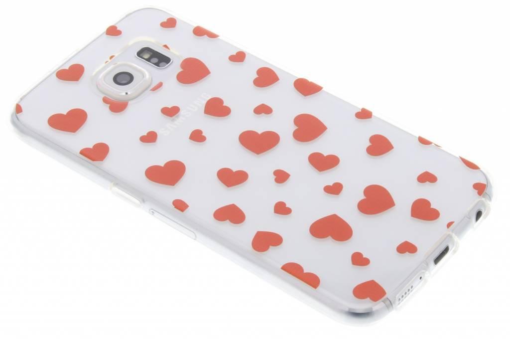 Rode hartjes Love TPU hoesje voor de Samsung Galaxy S6