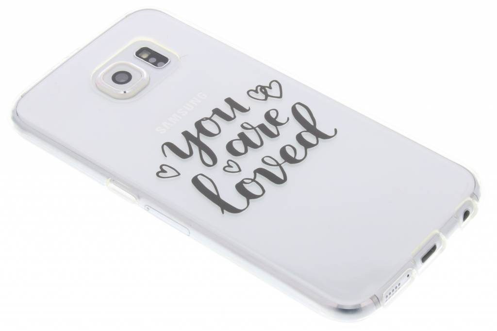 You Are Loved Love Quote TPU hoesje voor de Samsung Galaxy S6