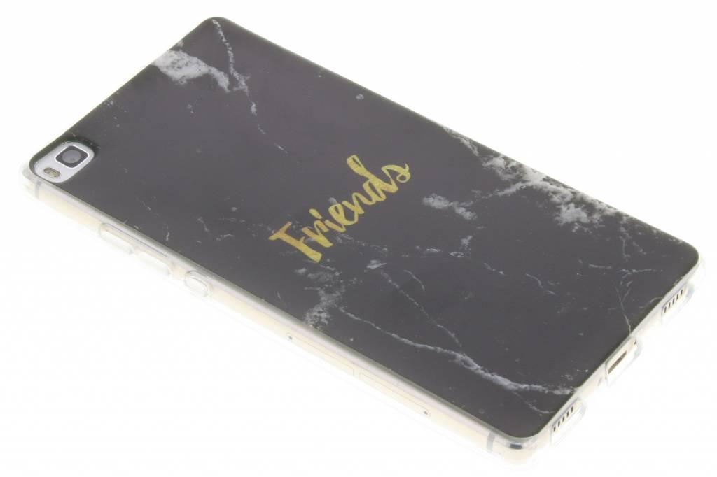 BFF Black Marble Love TPU hoesje voor de Huawei P8