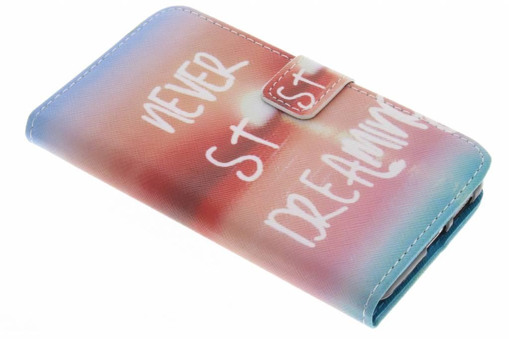 Never stop dreaming design TPU booktype hoes voor de Huawei Nova