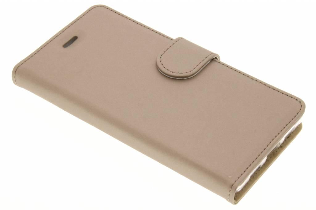 Accezz Wallet TPU Booklet voor de Huawei P8 Lite - Goud