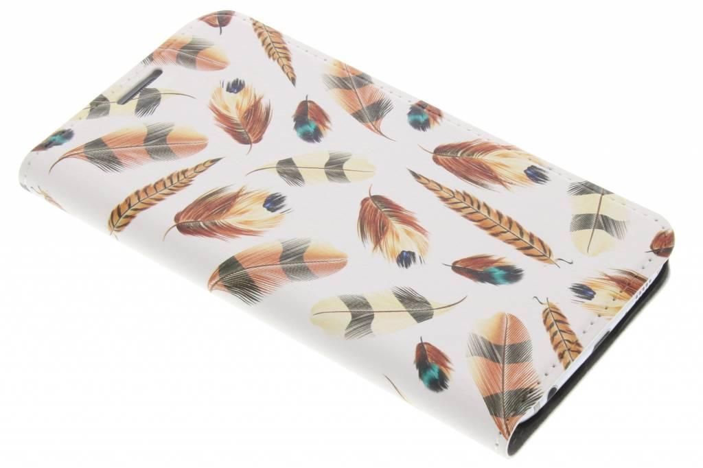 Feathers Brown Design Booklet voor de Samsung Galaxy S6
