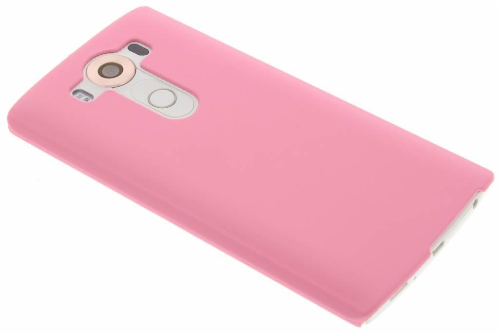 Roze effen hardcase hoesje voor de LG V10