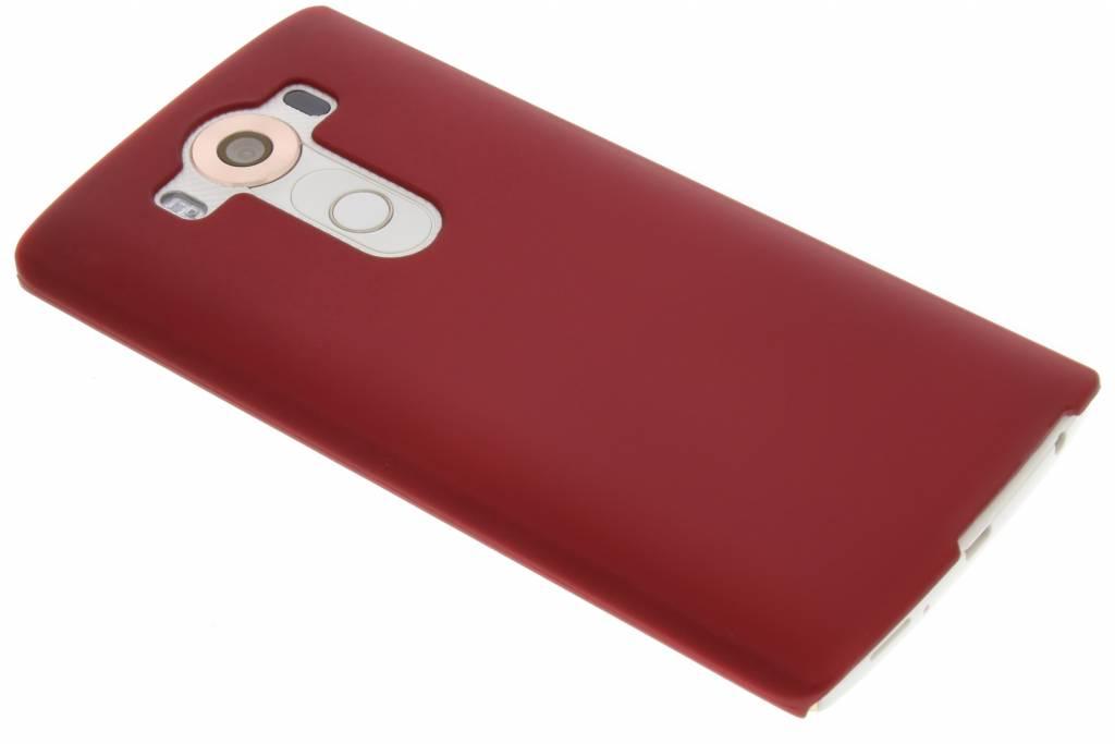 Rood effen hardcase hoesje voor de LG V10