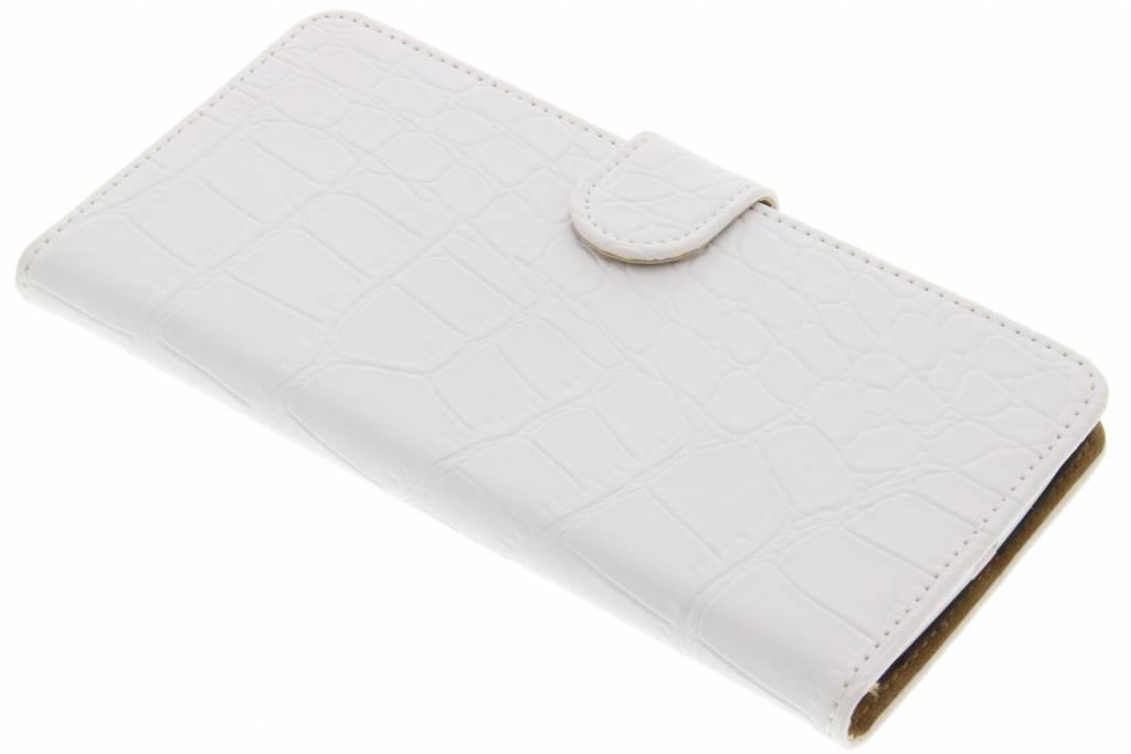 Witte krokodil booktype hoes voor de LG V10