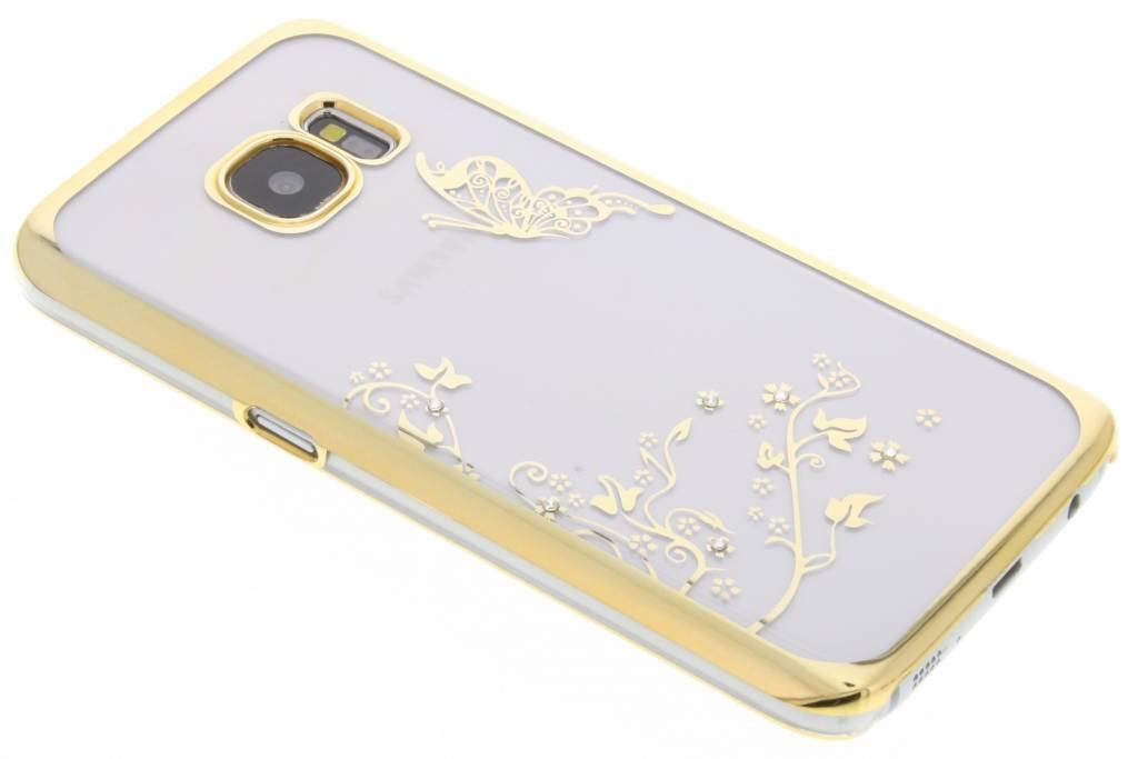 Transparant vlinder design hardcase hoesje voor de Samsung Galaxy S7