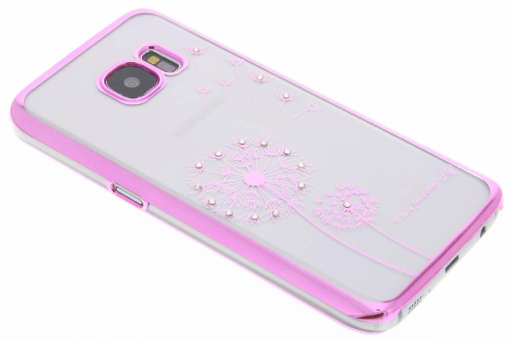 Transparant paardenbloem design hardcase hoesje voor de Samsung Galaxy S7