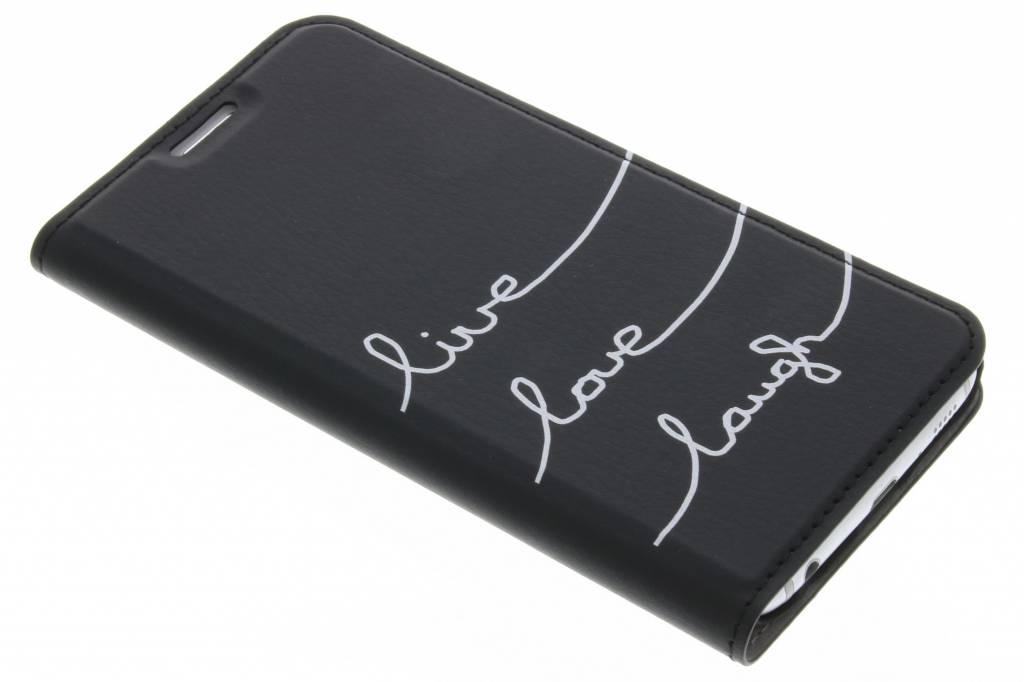 Quote Design Live Love Laugh Design Booklet voor de Samsung Galaxy S6
