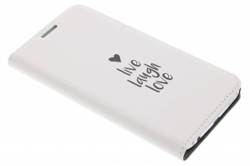 Quote Design Live Laugh Love Booklet voor de Samsung Galaxy S6