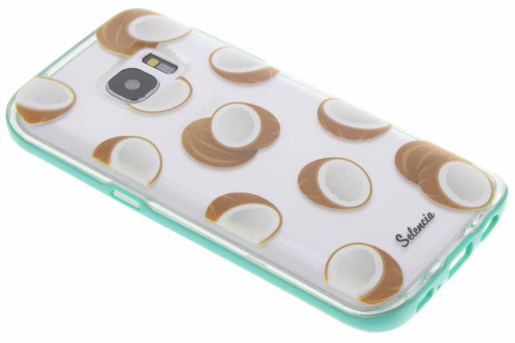 Selencia Foodies Coconuts TPU hoesje voor de Samsung Galaxy S7
