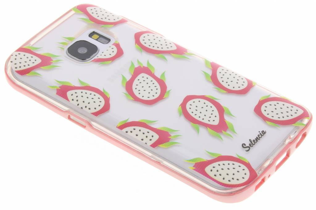Selencia Foodies Dragon Fruit TPU hoesje voor de Samsung Galaxy S7