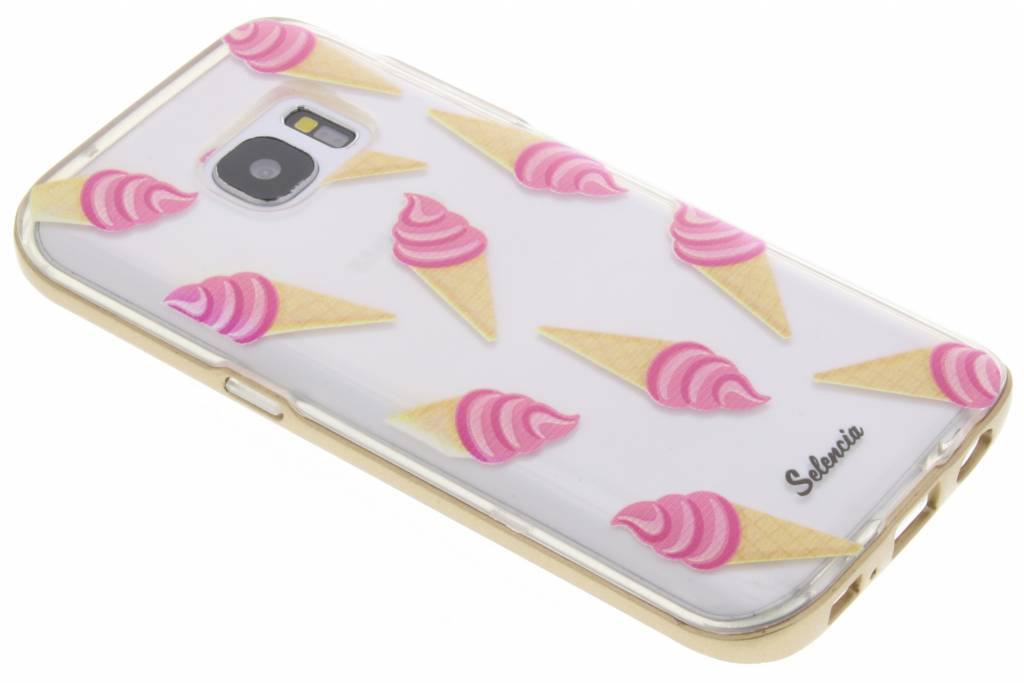 Selencia Foodies Icecream TPU hoesje voor de Samsung Galaxy S7