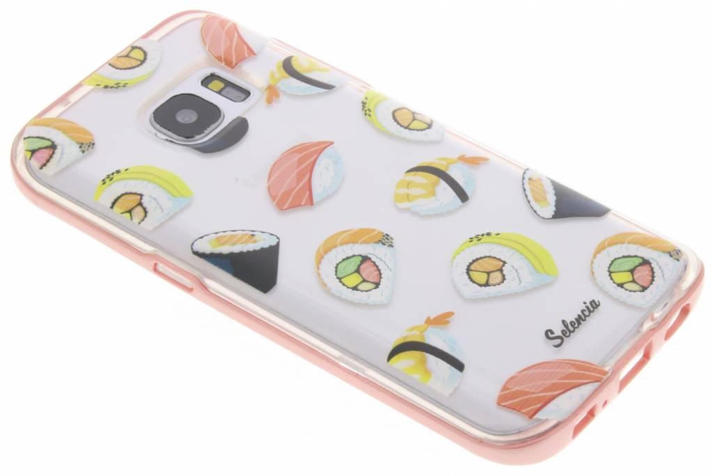 Selencia Foodies Sushi TPU hoesje voor de Samsung Galaxy S7