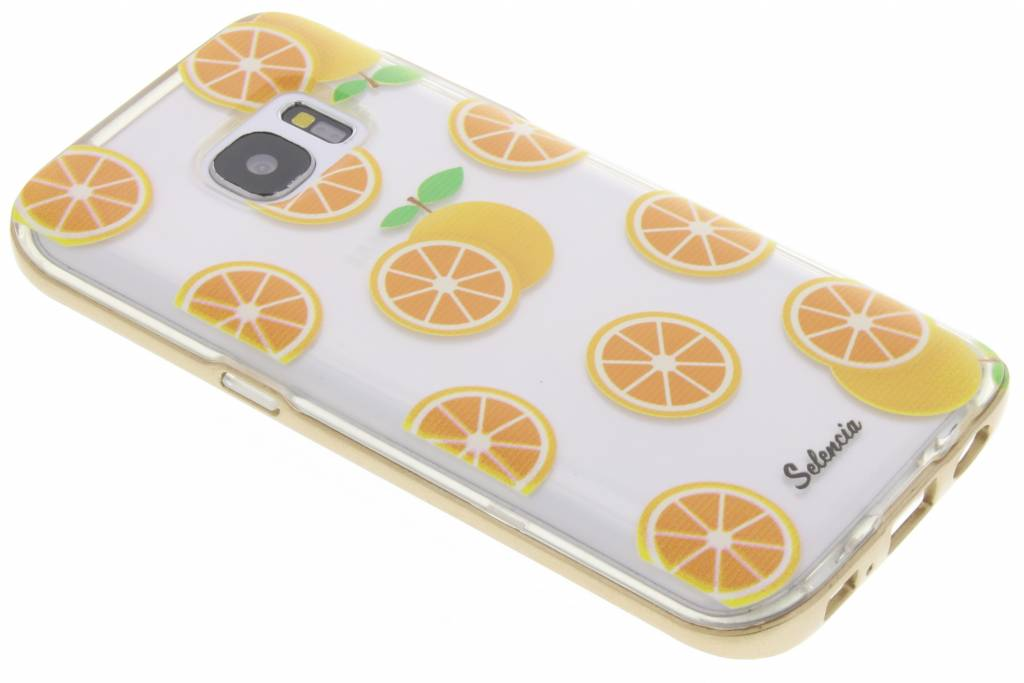 Selencia Foodies Orange TPU hoesje voor de Samsung Galaxy S7