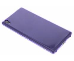Paars transparant gel case Sony Xperia XA Ultra