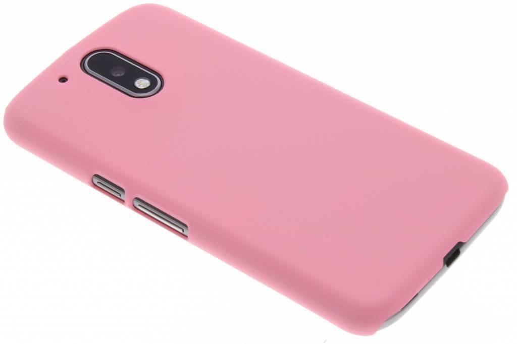 Roze effen hardcase hoesje voor de Motorola Moto G4 (Plus)
