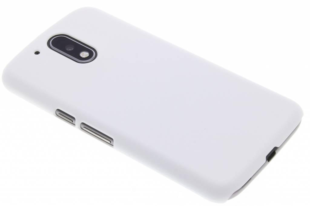 Wit effen hardcase hoesje voor de Motorola Moto G4 (Plus)