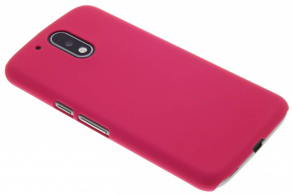 Fuchsia effen hardcase hoesje voor de Motorola Moto G4 (Plus)