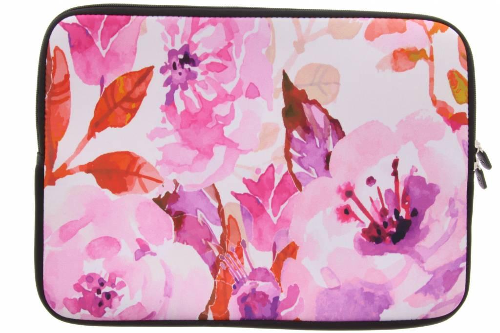 Manches Design Aquarelle Floral Bleu Universal 15 Pouces LLLkQn6R