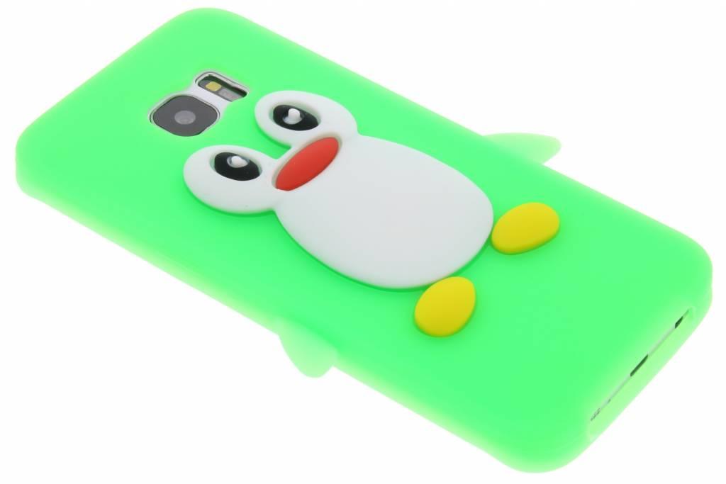Neon groen pinguin siliconen hoesje voor de Samsung Galaxy S7 Edge