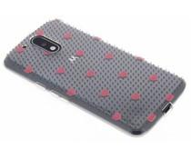 Dots and hearts design TPU hoesje Motorola Moto G4 (Plus)