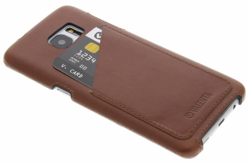 Valenta Back Cover Classic Luxe voor de Samsung Galaxy S7 Edge - Bruin