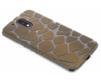 Dierenprint design Giraffe TPU hoesje Moto G4 (Plus)