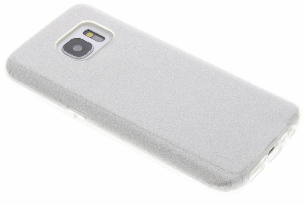 Zilveren glamour design softcase voor de Samsung Galaxy S7