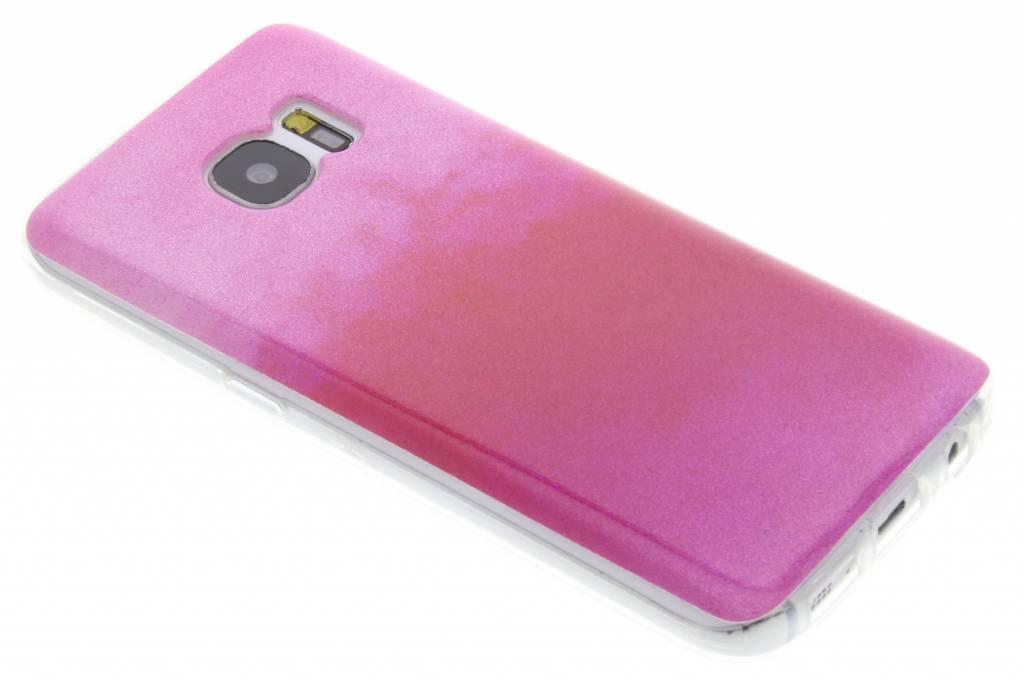 Fuchsia glitter TPU softcase voor de Samsung Galaxy S7