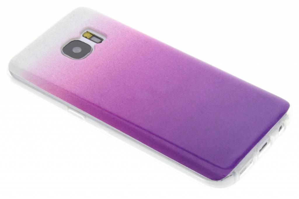 Paarse glitter TPU softcase voor de Samsung Galaxy S7