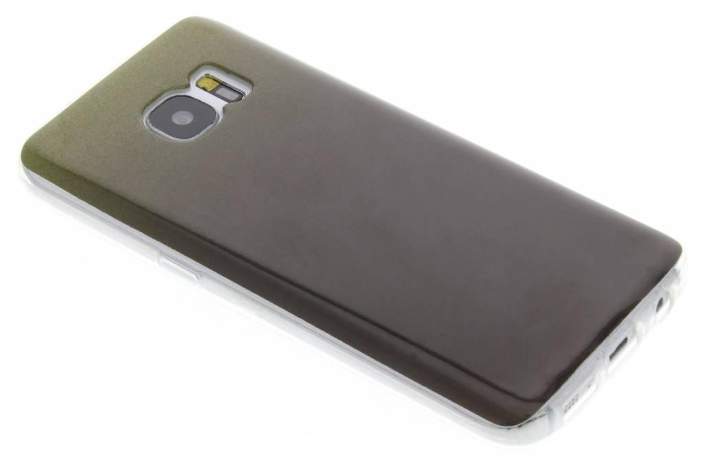 Zwarte glitter TPU softcase voor de Samsung Galaxy S7