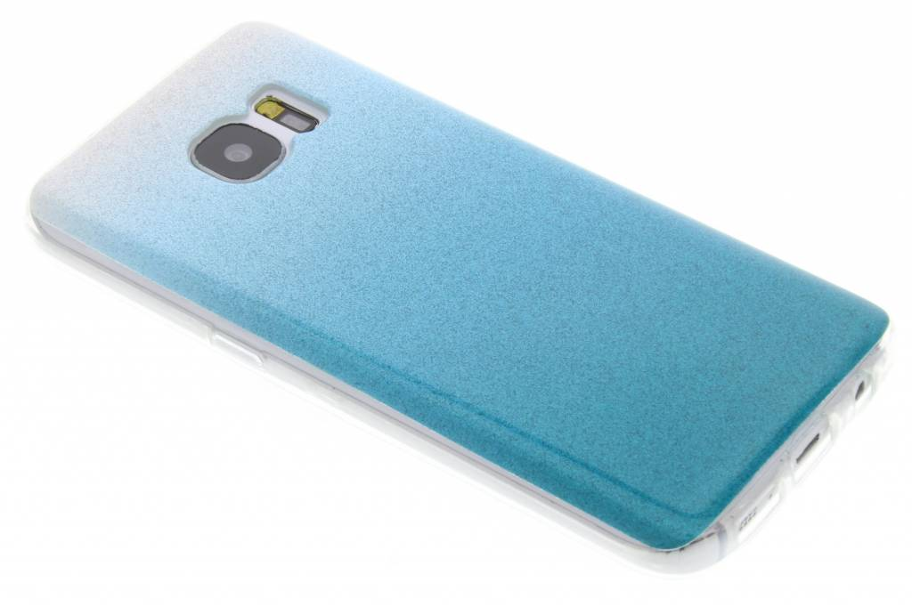 Turquoise glitter TPU softcase voor de Samsung Galaxy S7