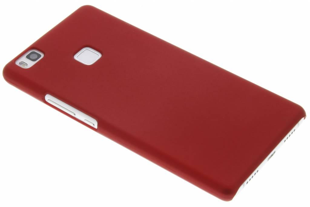 Rood effen hardcase hoesje voor de Huawei P9 Lite