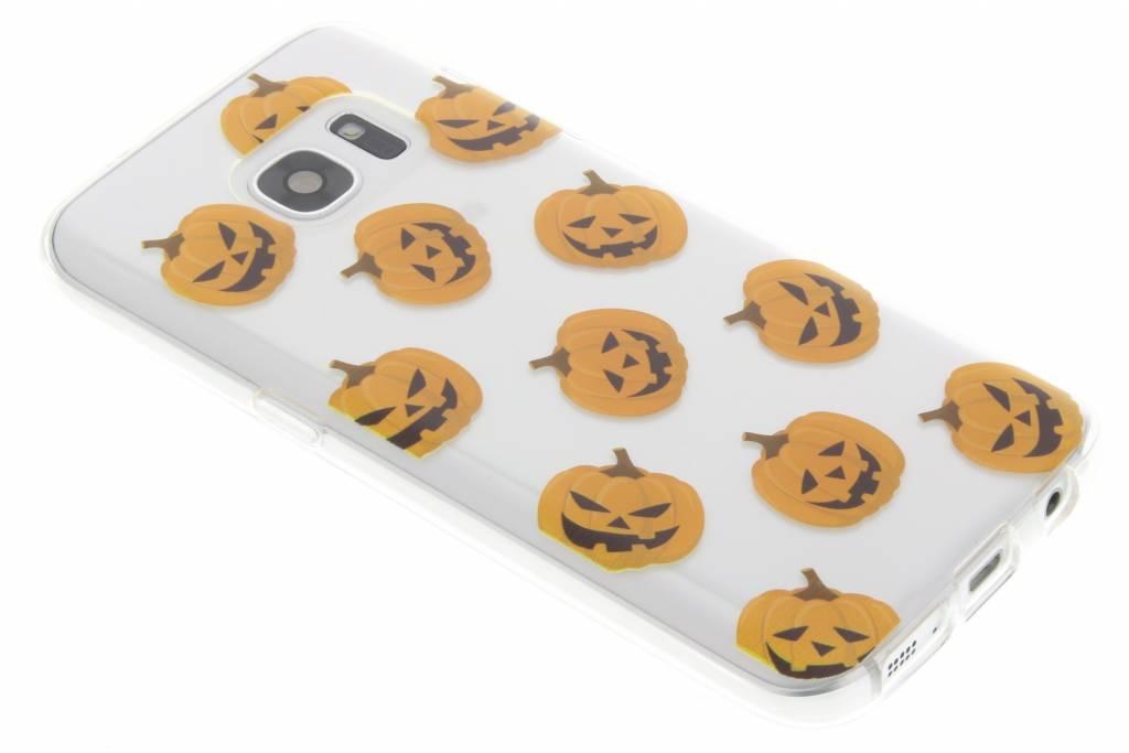 Halloween design pompoentjes TPU hoesje voor de Samsung Galaxy S7