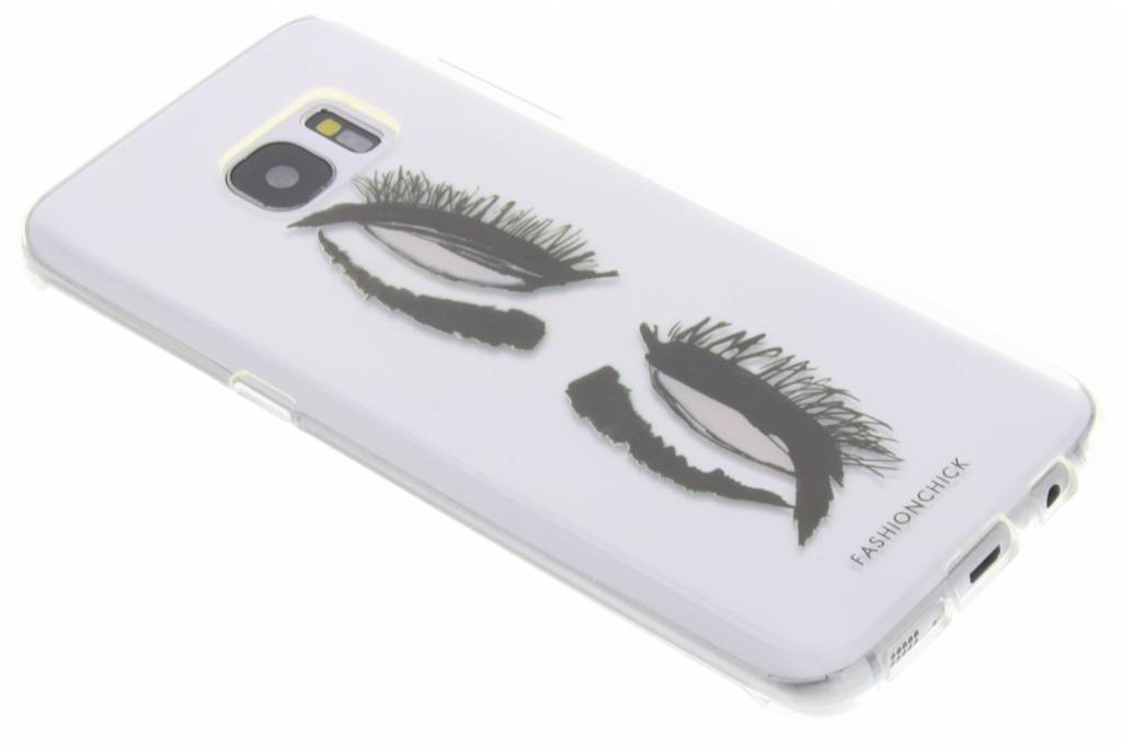 Fashionchick Eyes Softcase voor de Samsung Galaxy S7 Edge