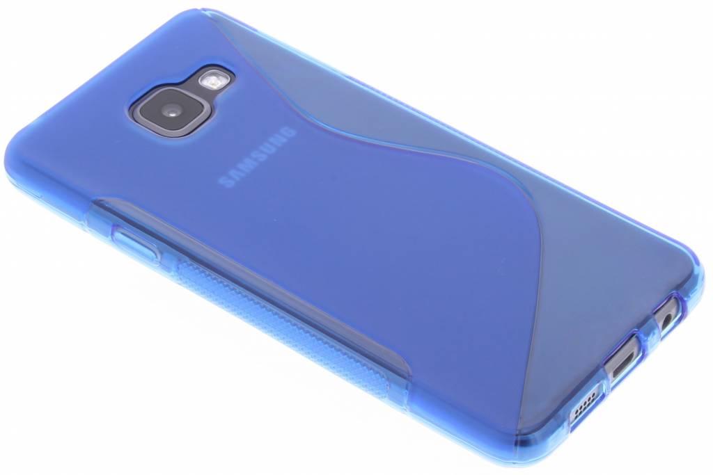 Blauw S-line TPU hoesje voor de Samsung Galaxy A3 (2016)