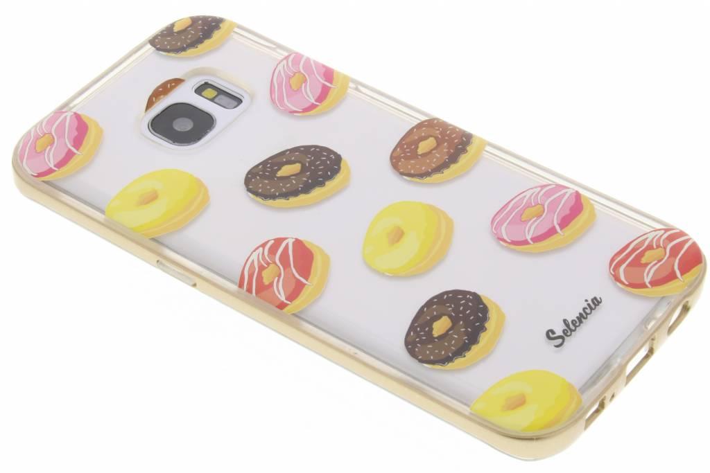 Selencia Foodies Donut TPU hoesje voor de Samsung Galaxy S7 Edge