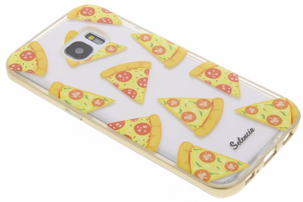 Selencia Foodies Pizza TPU hoesje voor de Samsung Galaxy S7 Edge