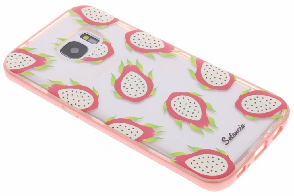 Selencia Foodies Dragon Fruit TPU hoesje voor de Samsung Galaxy S7 Edge