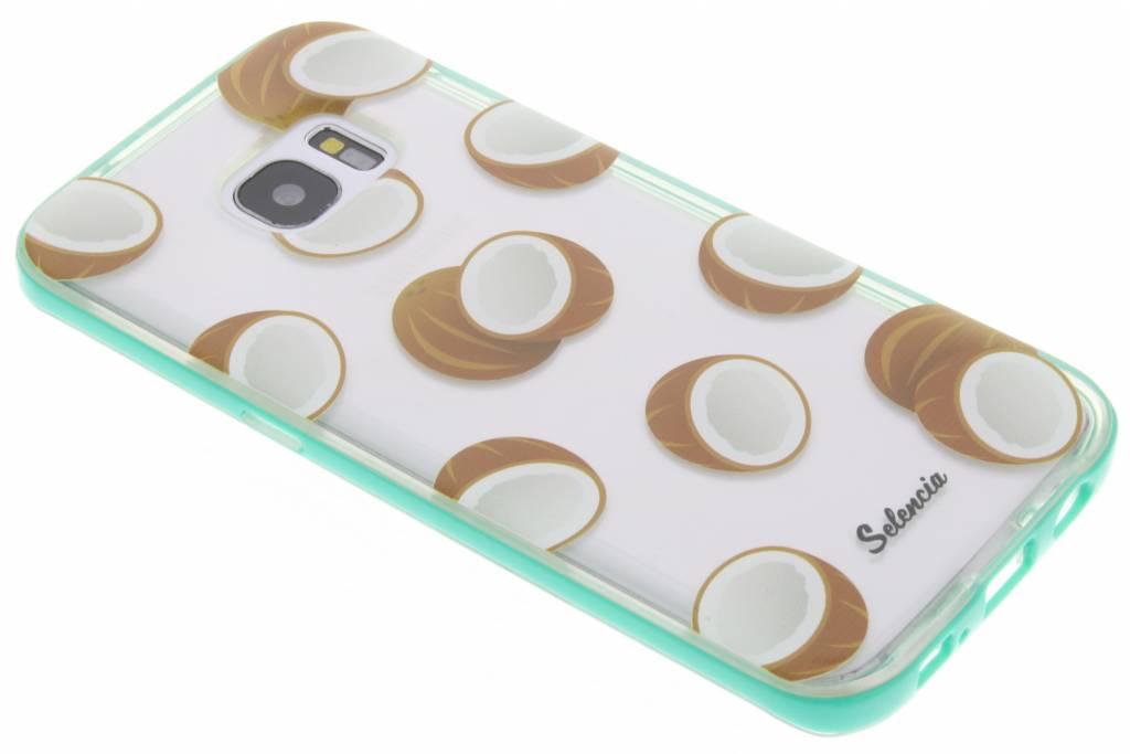 Selencia Foodies Coconuts TPU hoesje voor de Samsung Galaxy S7 Edge