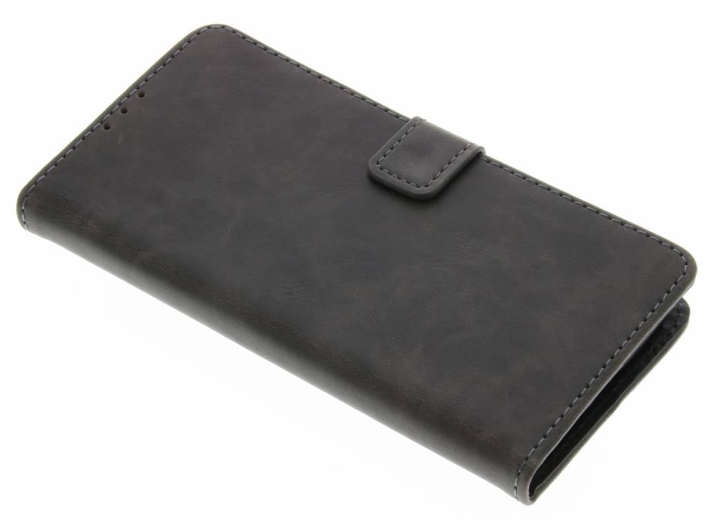 Grijsbruine luxe leder booktype hoes voor de Motorola Moto G4 (Plus)