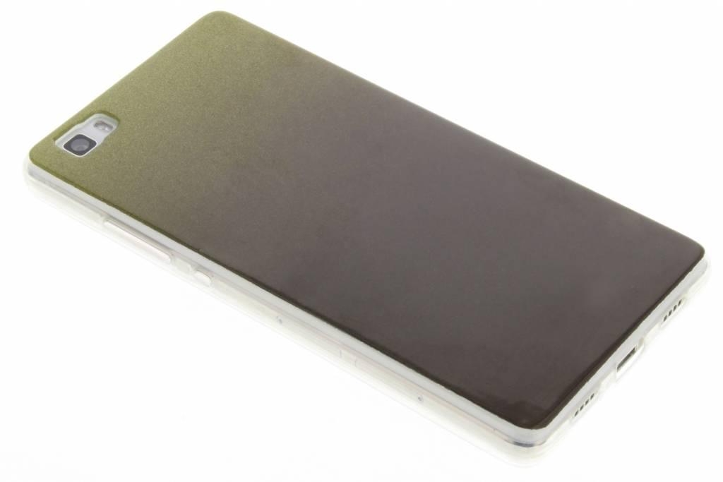 Mosgroene glitter TPU softcase voor de Huawei P8 Lite
