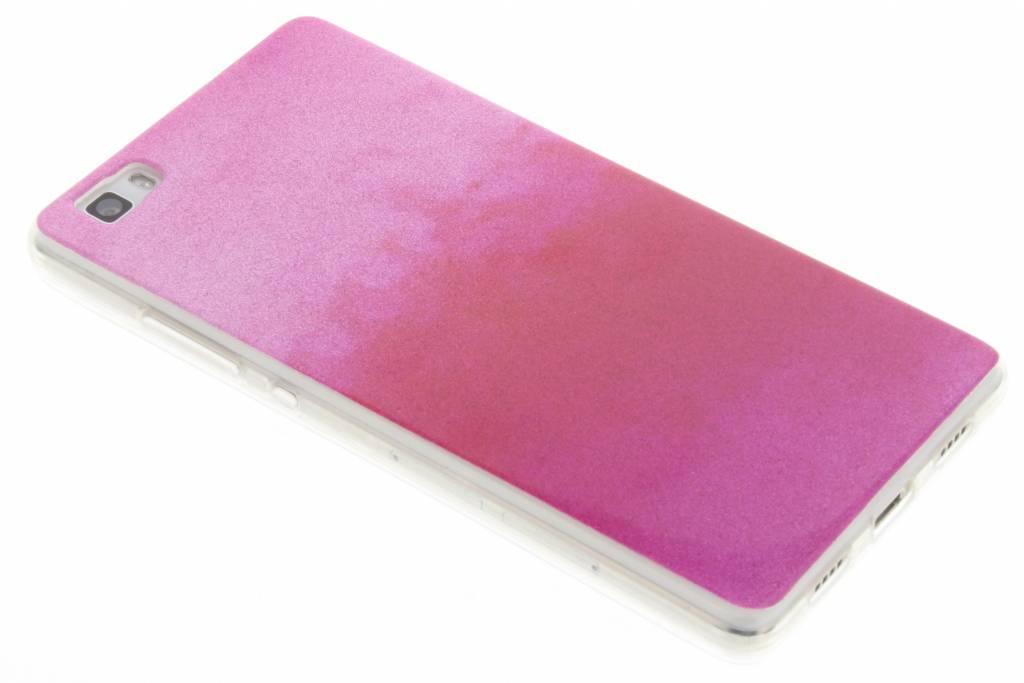 Fuchsia glitter TPU softcase voor de Huawei P8 Lite