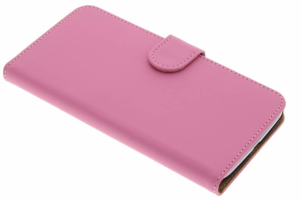 Roze effen booktype hoes voor de Motorola Moto G4 (Plus)
