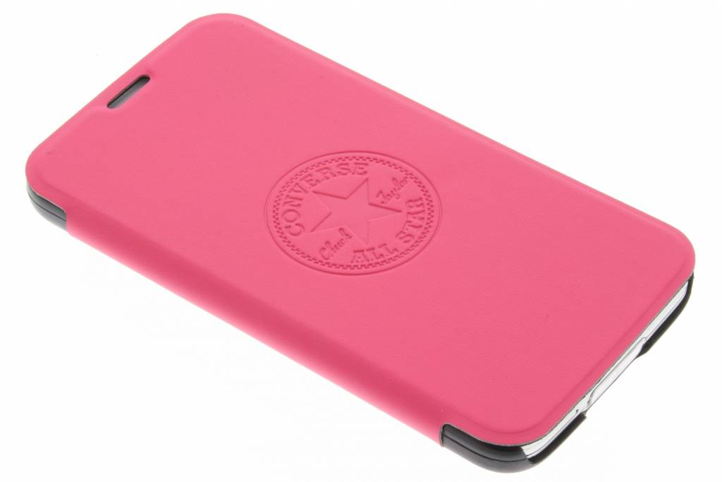 Converse Premium PU Booklet Case voor de Samsung Galaxy S5 (Plus) / Neo - Fuchsia